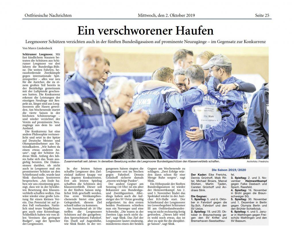 Ostfriesische Nachrichten, 02.10.2019, S. 25