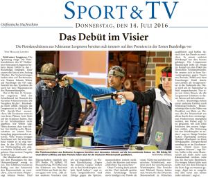 Ostfriesische Nachrichten, 14.07.2016, Seite 19