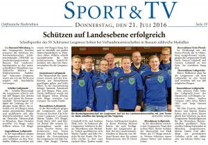Ostfriesische Nachrichten, 21.07.2016, Seite 19