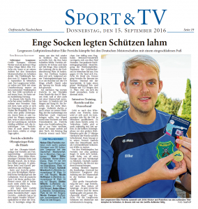 Ostfriesische Nachrichten, 15.09.2016, Seite 19
