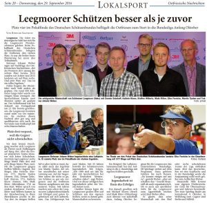 Ostfriesische Nachrichten, 29.09.2016