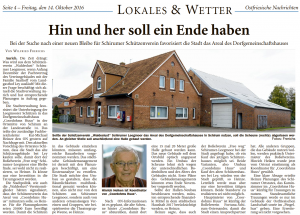 Ostfriesische Nachrichten, 14.10.2016