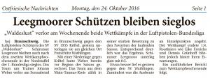 Ostfriesische Nachrichten, 24.10.2016