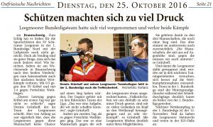 Ostfriesische Nachrichten, 25.10.2016
