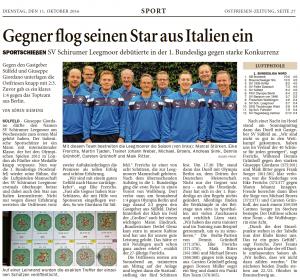 Ostfriesen-Zeitung, 11.10.2016