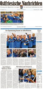 Ostfriesische Nachrichten, 14.11.2016, Seite 1 u. 23