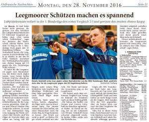 Ostfriesische Nachrichten, 28.11.2016, Seite 21